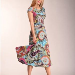 LBISSE XL Colorful Paisley Maxi